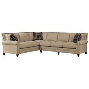 bassett harlan sectional sofa with 5 seats wayside