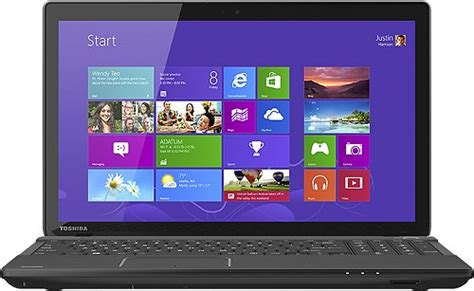 toshiba satellite 15 6 quot touch screen laptop 4gb memory 500gb drive c55t a 5218 best buy