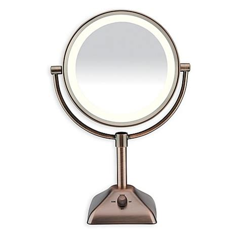 conair led lighted mirror conair 174 variable lighted 1x 10x mirror bed bath beyond