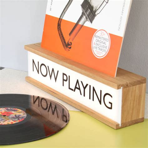 now playing now playing vinyl holder and lightbox by james design