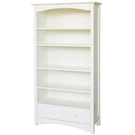 davinci roxanne 5 shelf wood bookcase in white m5926w