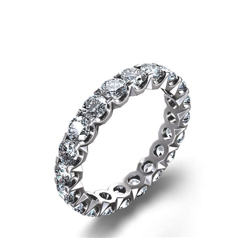 prong set 2 3 8 ctw eternity ring in 14k white gold