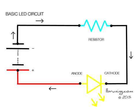 simple led circuit without resistor basic led circuit