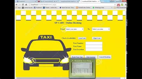 design online cab booking system for amazon online taxi booking system using asp net youtube
