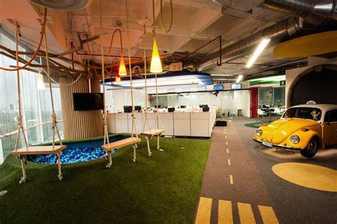 google office playroom space recreates iconic landmarks of mexico city within