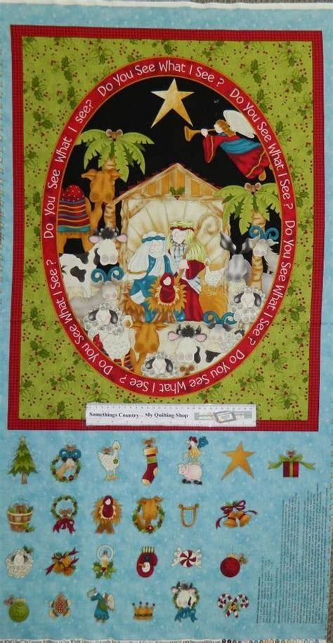 Patchwork Advent Calendar - quilting patchwork sewing fabric advent nativity