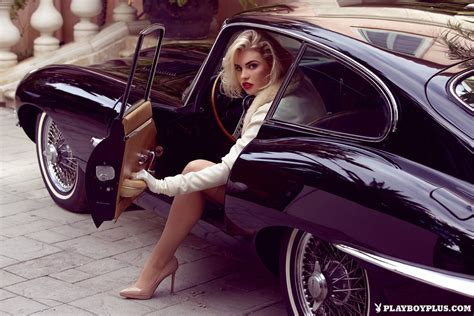 italian playboys series 1 kayslee collins does shoot in jaguar e type coupe