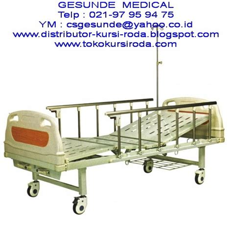 Kursi Besi Rumah Sakit ranjang rumah sakit abs bed 2 crank manual baru toko