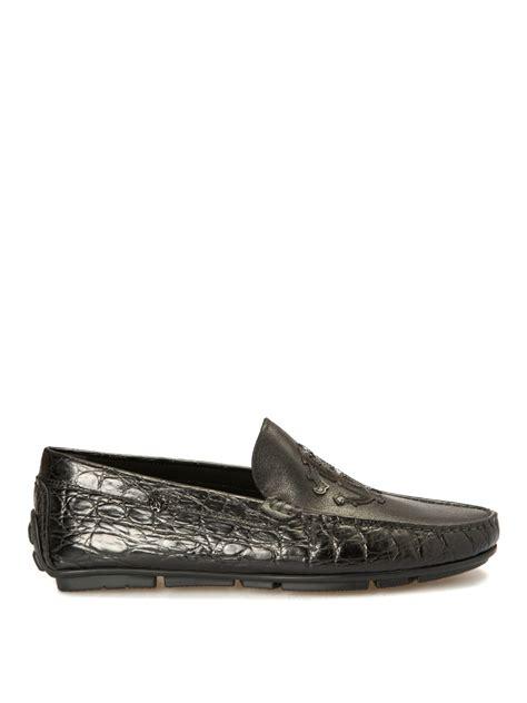 Roberto Cavalli 51130 Leather Semprem croco print black leather loafers by roberto cavalli loafers slippers ikrix