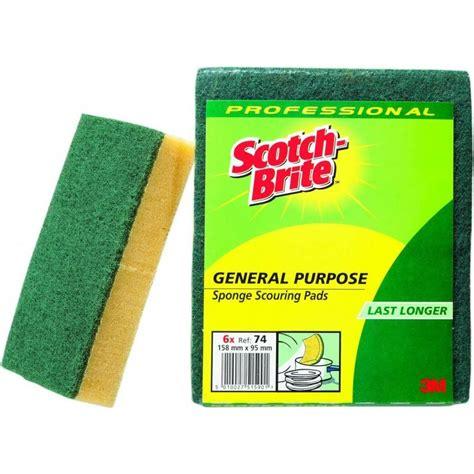 Spons Scotch Brite Id82 scotch brite scotch brite spons synthetisch zonder handgreep groen geel mega buyer