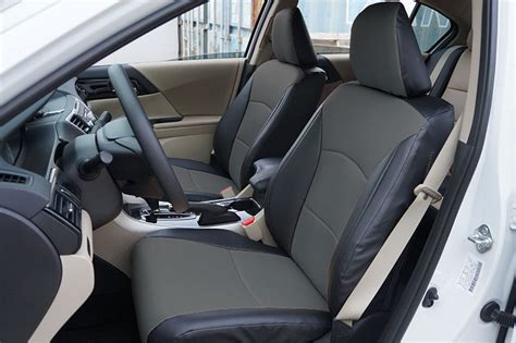 honda accord seat covers 2016 honda accord 2013 2016 black charcoal s leather custom