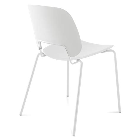 Set Of 4 White Dining Chairs Trajan White Modern Dining Chair Eurway Furniture