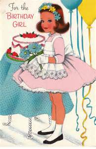 50s birthday card vintage 1950s for the birthday greetings card b71