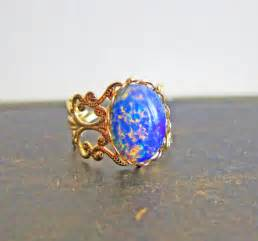 Opel Rings Opal Ring Opal Ring Gift Harlequin Opal Ring Vintage