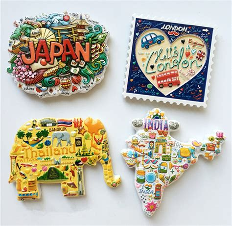 Souvenir Magnet Kulkas Dari japan thailand uk india topographic map 3d fridge magnet travel souvenir refrigerator magnetic