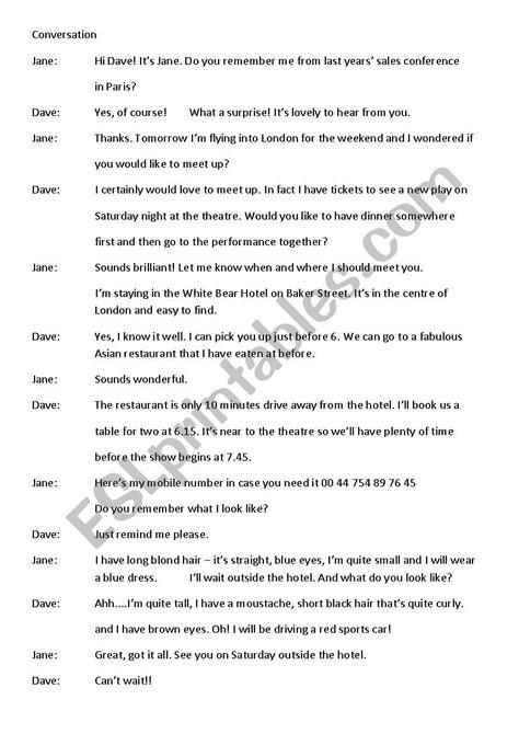 Conversation Meeting People - ESL worksheet by Lester14