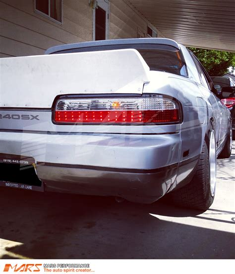 s13 clear tail lights clear red jdm led tail lights for nissan silver s13 mars