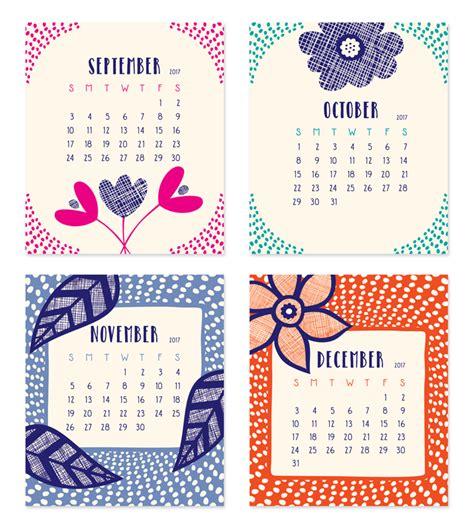 Calendar 2017 September To December 2017 Flora Fauna Desk Calendar 171 Owl Paper Goods
