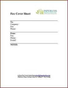 Fax Cover Letter Form by Fax Cover Letter Exle Cvsleform