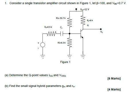 transistor lifier analysis single transistor lifier analysis q point values electrical engineering stack exchange