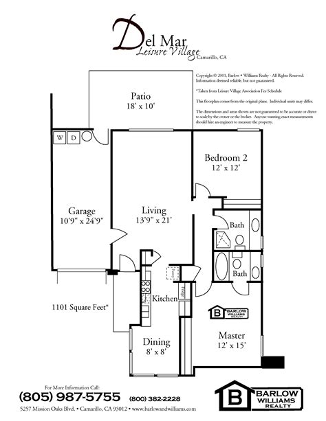 leisure village camarillo floor plans