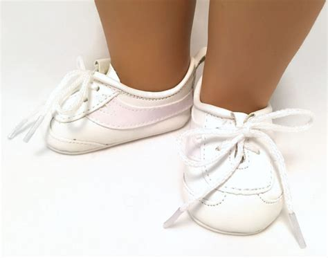 white vinyl tennis shoes sneakers made for 18 quot american