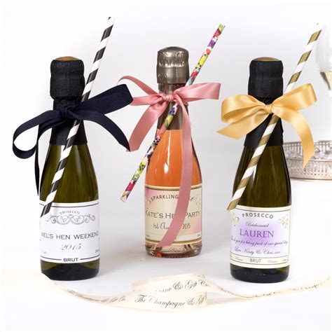 Personalised Miniature Sparkling Rosé Wedding Favours   20cl