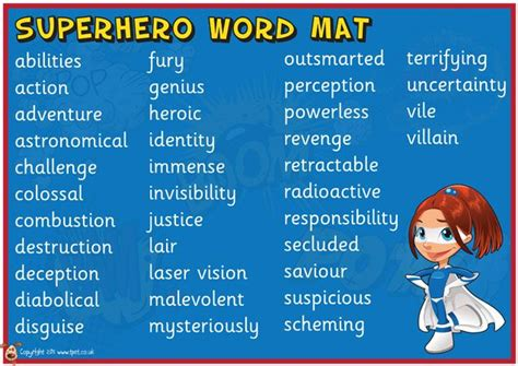 ks2 biography wordmat 17 best images about super hero class theme on pinterest