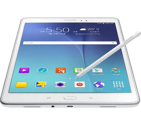 Tablet Fitur S Pen sm p550nzwabtu samsung galaxy tab a 9 7 quot tablet s pen 16 gb white currys pc world business