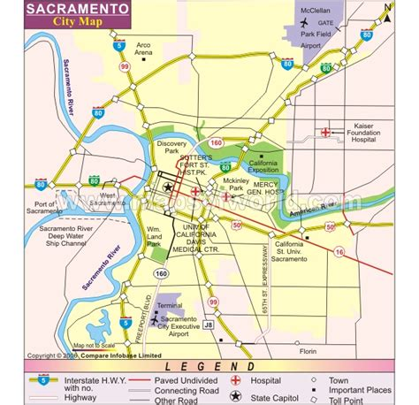 sacramento map of california sacramento california map