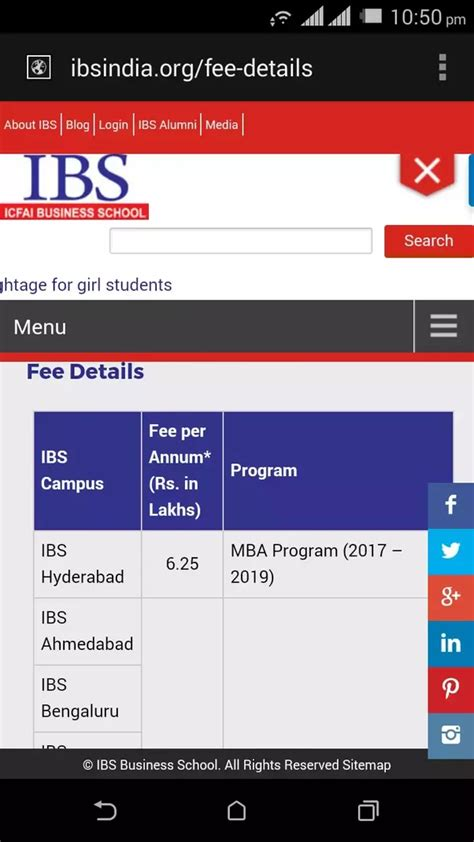 Icfai Hyderabad Mba Fee Structure by What Is The Fees Structure Of Ibs Hyderabad For An Mba