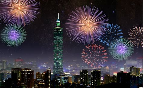 taiwan new year 2015 show taipei taiwan firework lwp android apps op play