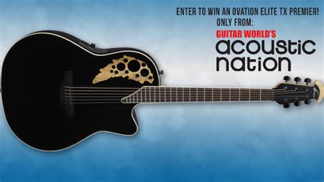 Guitar Giveaways 2014 - ovation elite guitar giveaway