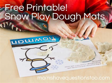 snow playdough mats printable snow play dough mats moms have questions too