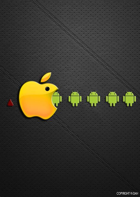 apple to android apple vs android by teambay on deviantart