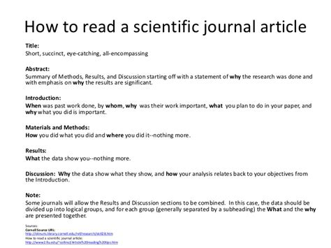 If You Read One Article About Sales Read This One by How To Read A Scientific Journal Article