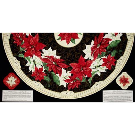 christmas joy tree skirt 24 quot panel discount designer