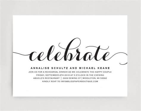 wedding rehearsal dinner invitation editable printable