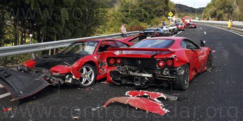 8 Ferrari Accident by Huit Ferraris Et Une Lambo 224 La Casse Accident Auto