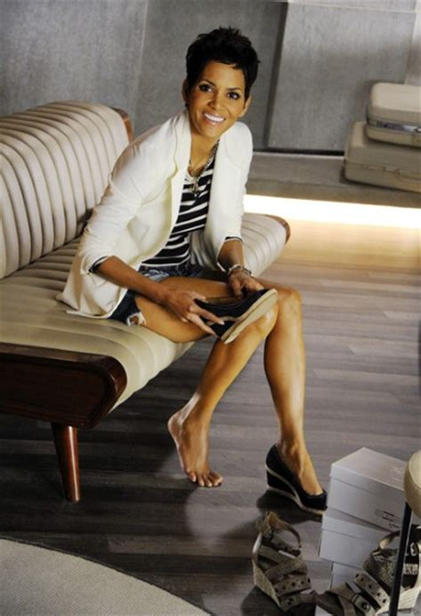 slip into something more comfortable james bond halle berry swaps show business for shoe business with a