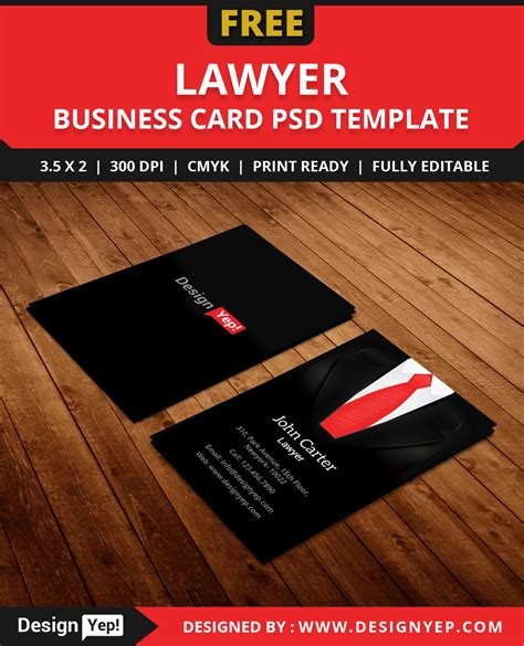 free lawyer business card template psd designyep