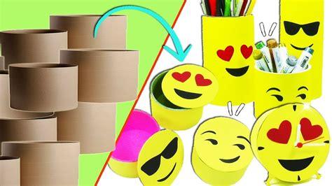 como hacer un fondo con emojis youtube ideas emojis con tubos de cart 243 n reciclaje ecobrisa