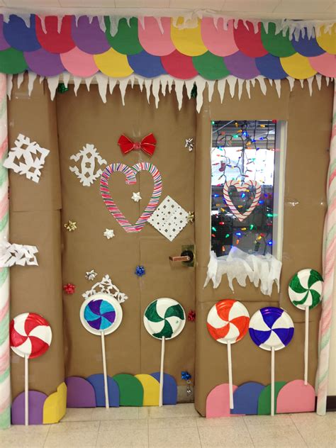 gingerbread house classroom door decorating 2nd place