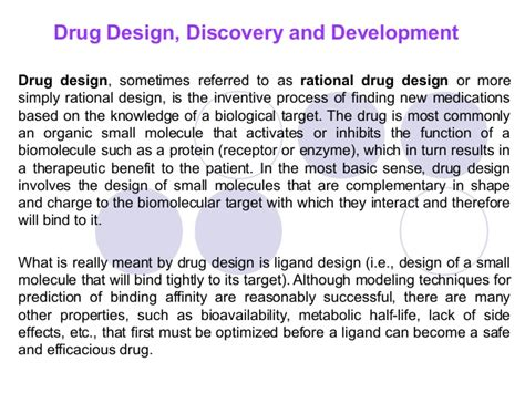 drug design discovery journal drug design discovery and development