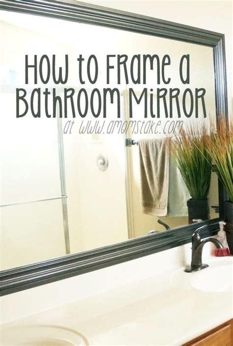 mirr edge frames for bathroom mirrors framing a mirror tutorials and shops