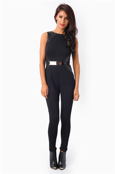 Tracy Overall 1 tracy gold belt pvc panel jumpsuit