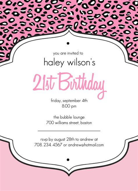 21st invitation templates 21st birthday invitations wblqual
