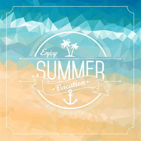 enjoy summer clean white badge with sign enjoy summer