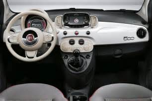 Fiat 500 Interior Drive Review Fiat 500 2016