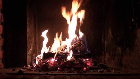 Log Burning Fireplace by Fireplace Burning Crackling